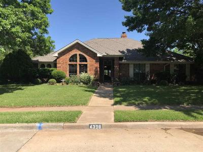 Wichita Falls TX Single Family Home Active W/Option Contract: $296,300