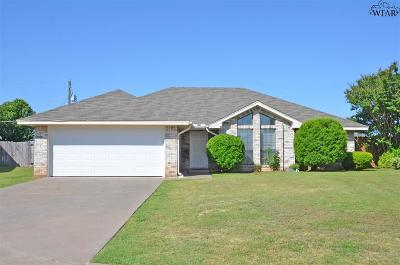 Wichita Falls TX Single Family Home Active W/Option Contract: $135,000