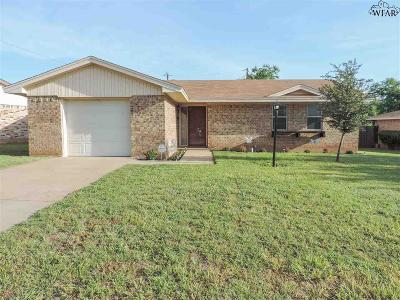 Wichita Falls TX Single Family Home For Sale: $109,000