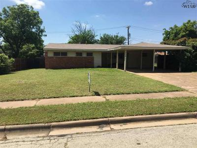 Wichita Falls TX Single Family Home For Sale: $105,000