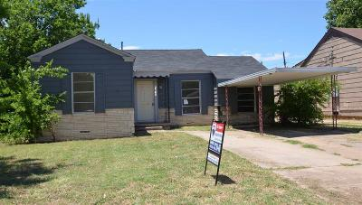 Wichita Falls TX Single Family Home For Sale: $59,000