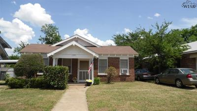 Wichita Falls TX Single Family Home For Sale: $45,000