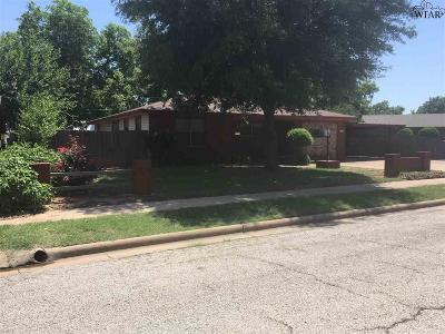 Burkburnett TX Single Family Home For Sale: $95,000