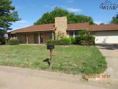 Burkburnett Single Family Home Active W/Option Contract: 944 Kiowa Drive
