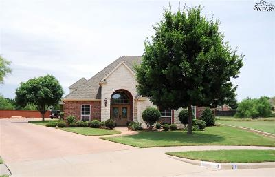 Wichita Falls Single Family Home For Sale: 4 Shadow Ridge Court