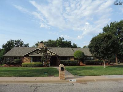 Wichita Falls Single Family Home Active W/Option Contract: 4517 Shady Lane