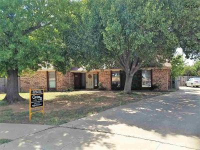 Wichita Falls TX Single Family Home For Sale: $164,900