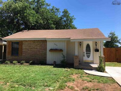 Wichita Falls TX Single Family Home Active W/Option Contract: $109,900