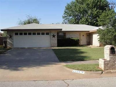 Wichita Falls TX Single Family Home For Sale: $99,900