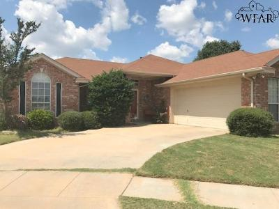 Wichita Falls TX Single Family Home Active W/Option Contract: $161,000