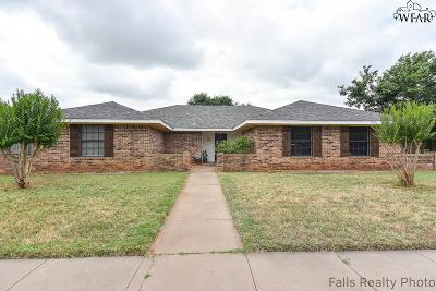 Wichita Falls TX Single Family Home Active W/Option Contract: $189,000