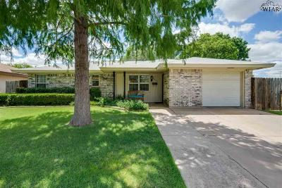 Wichita Falls TX Single Family Home Active W/Option Contract: $117,000