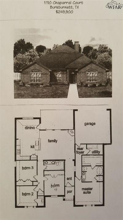 Burkburnett Single Family Home For Sale: 1110 Chaparral Court