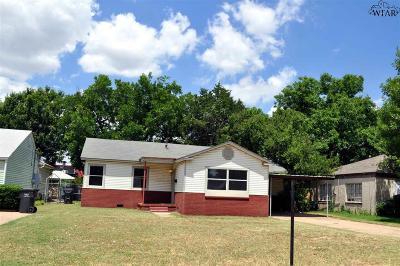 Wichita Falls Single Family Home For Sale: 3116 Sherwood Lane