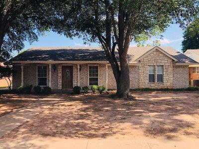 Wichita County Single Family Home Active W/Option Contract: 4821 Big Bend Drive
