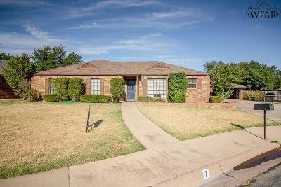 Wichita Falls Single Family Home For Sale: 7 Mitzi Cove
