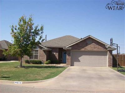 Burkburnett TX Single Family Home Active W/Option Contract: $144,900