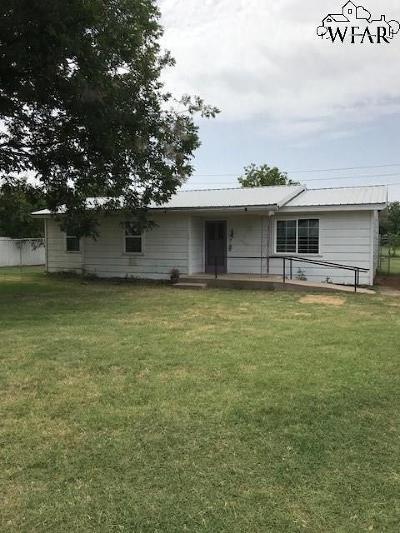 Burkburnett TX Single Family Home For Sale: $52,000