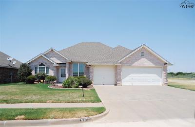 Wichita Falls Single Family Home For Sale: 5102 Wakefield Lane