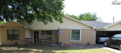 Wichita Falls TX Single Family Home For Sale: $124,000