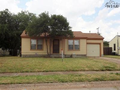 Wichita Falls TX Single Family Home For Sale: $59,900