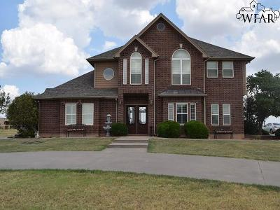 Archer County, Baylor County, Clay County, Jack County, Throckmorton County, Wichita County, Wise County Single Family Home For Sale: 294 Burnett Ranch Road