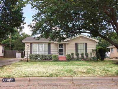 Wichita Falls TX Single Family Home Active W/Option Contract: $87,000