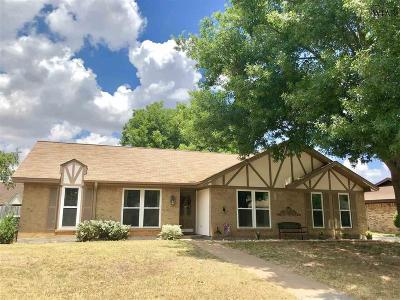 Wichita Falls TX Single Family Home For Sale: $172,500
