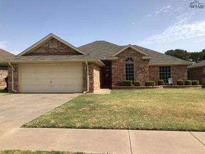 Wichita Falls TX Single Family Home Active W/Option Contract: $145,000