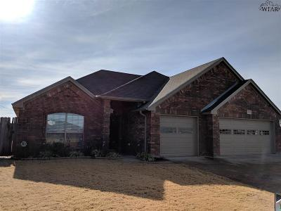 Wichita Falls TX Single Family Home For Sale: $274,500