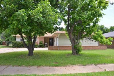 Wichita Falls Single Family Home Active W/Option Contract: 1521 Glendale Drive