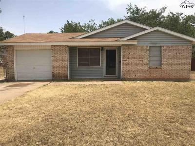 Wichita Falls Single Family Home For Sale: 1601 Gunnison Drive