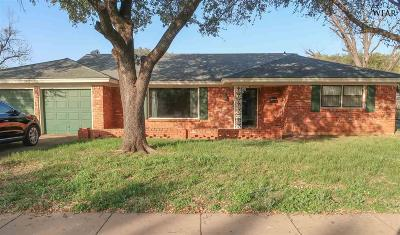 Wichita Falls TX Single Family Home For Sale: $122,500