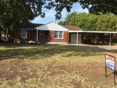 Wichita Falls Single Family Home Active W/Option Contract: 4340 Boren Avenue