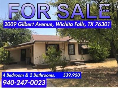 Wichita Falls TX Single Family Home For Sale: $39,950
