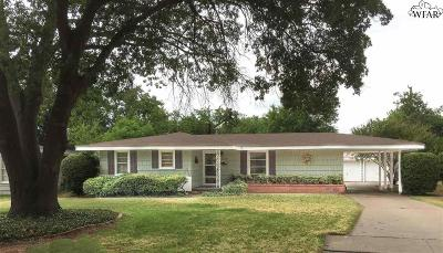 Wichita Falls Single Family Home Active-Contingency: 2609 Fairway Drive