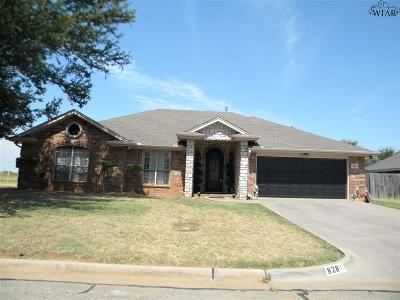 Burkburnett Single Family Home For Sale: 828 Sugarbush Lane