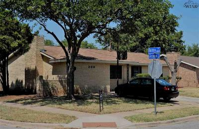 Wichita Falls Single Family Home For Sale: 200 Glasgow Drive
