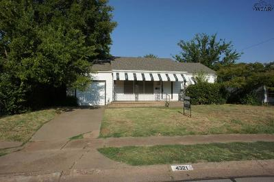 Wichita County Rental For Rent: 4321 Boren Avenue