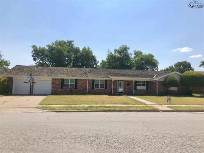 Wichita Falls Single Family Home Active W/Option Contract: 4505 Kenwood Street