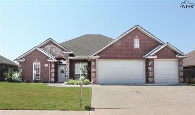 Wichita Falls Single Family Home Active W/Option Contract: 1705 Shoal Creek Drive