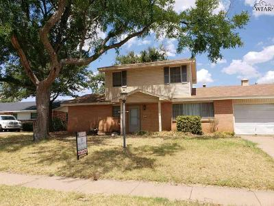 Wichita Falls Single Family Home Active W/Option Contract: 4617 Sierra Madre Drive