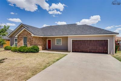 Iowa Park Single Family Home Active W/Option Contract: 1703 Johnson Road