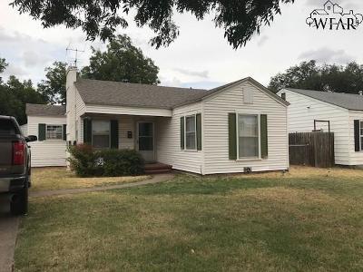 Wichita Falls TX Single Family Home For Sale: $53,900