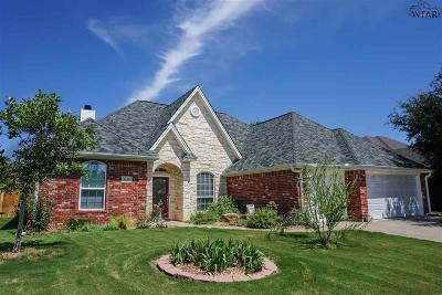 Wichita Falls Single Family Home Active W/Option Contract: 4128 Candlewood Circle