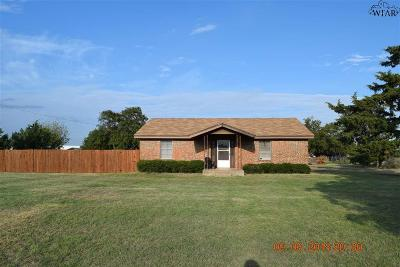 Iowa Park Single Family Home Active W/Option Contract: 1556 S Peterson Road
