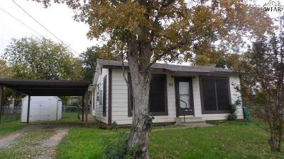 Iowa Park Single Family Home For Sale: 615 S Wall Street