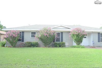 Wichita Falls TX Single Family Home For Sale: $119,000