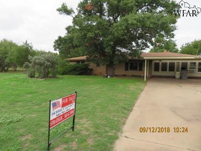 Wichita Falls TX Single Family Home For Sale: $138,000