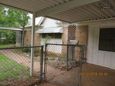 Wichita Falls TX Single Family Home For Sale: $44,000